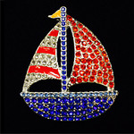 Patriot Boat Needle Minder Big Buddy The Meredith Collection (Formerly Elizabeth Turner Collection)