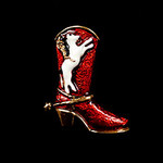Cowboy Boot Needle Minder Big Buddy The Meredith Collection ( Formerly Elizabeth Turner Collection)