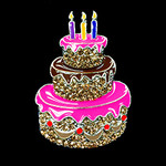 Birthday Cake Needle Minder Big Buddy The Meredith Collection (Formerly Elizabeth Turner Collection)