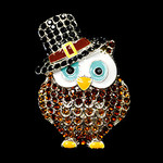 Owl With Hat Needle Minder Big Buddy The Meredith Collection ( Formerly Elizabeth Turner Collection)