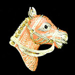 Horse Peach Needle Minder Big Buddy The Meredith Collection ( Formerly Elizabeth Turner Collection)