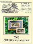 Carriage House Samplings 2000 Christmas Sampler