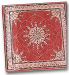 LC-5004-#2 Isphan Red Background 18 Mesh 12 x 12  Lois Caron CBK Designs