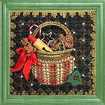 KC-KCB02-18 Tiny Christmas Baking Basket Kit 18 Mesh KELLY CLARK STUDIO, LLC