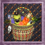 KC-KCB03-18 Tiny Halloween Tricks Basket Kit 18 Mesh KELLY CLARK STUDIO, LLC