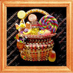 "KC-KCB04-18 Tiny Halloween Tricks Basket Kit 18 Mesh 7"" x 7"" KELLY CLARK STUDIO, LLC"