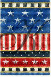 "KC-KCNFC6 Stars-n-Stripes Firecracker! 2.25""w x 3.5""h 18 Mesh  With Stitch GuideKELLY CLARK STUDIO, LLC"