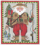 "KC-KCN117 Santa The Flyfishe 5""w x 6.5""h 13 Mesh KELLY CLARK STUDIO, LLC"