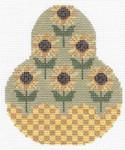 "KC-KCN1437  Sunflower Pear 3.5""w x 4.5""h 18 Mesh KELLY CLARK STUDIO, LLC"