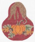 "KC-KCN1440 Pumpkin PearWith Carmel Drizzle 3.5""w x 4.5""h 18 Mesh KELLY CLARK STUDIO, LLC"