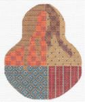 "KC-KCN1439 Autumn Crazy Quilt 3.5""w x 4.5""h 18 Mesh KELLY CLARK STUDIO, LLC"