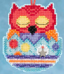 MH165104 Mill Hill Charmed Ornament Kit Huey Owlets (2015)