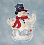 JS201611 Mill Hill Kit Snowman with Lights by Jim Shore (2016)