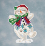 JS201613 Mill Hill Kit Snowman Dancing by Jim Shore (2016)