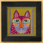 LB305113 Mill Hill Laurel Burch Wild Pink Cat - Cats Collection (Aida)