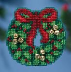 MH181632 Mill Hill Seasonal Ornament Kit Jingle Bell Wreath (2016)