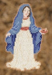 MH192302 Mill Hill Trilogy Ornament Kit Mary (2012)