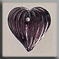 12068 Mill Hill Glass Treasure Medium Fluted Heart Amethyst