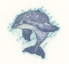 HCK1306A Heritage Crafts Kit Dolphin - Little Friends Collection by Valerie Pfeiffer and Susan Ryder