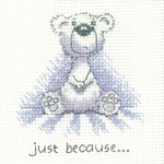 HCK1309 Heritage Crafts Kit Just Because - Justin Bear Cards by Peter Underhill