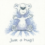 HCK1310 Heritage Crafts Kit Just a Hug - Justin Bear Cards by Peter Underhill