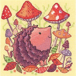 HCK1329A Heritage Crafts Kit Hedgehog - Woodland Creatures by Karen Carter