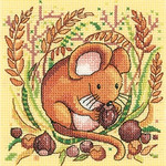 HCK1332A Heritage Crafts Kit Mouse - Woodland Creatures by Karen Carter