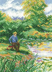 HCK1337 Heritage Crafts Kit A Days Fishing - Memories by Leslie Stones