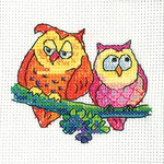 HCK1340 Heritage Crafts Kit A Pair of Owls - Simply Heritage Cards (3) by Karen Carter