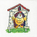 HCK1344 Heritage Crafts Kit Hen House - Simply Heritage Cards (3) by Karen Carter
