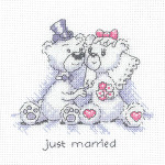 HCK1350 Heritage Crafts Kit Just Married - Justin & Justine Bear Cards by Peter Underhill
