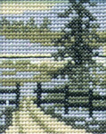 """146361 Permin KitSpruce 2"""" x 2.6""""; White Aida; 16ct"""