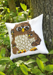 836323 Permin Kit Owl Family Pillow