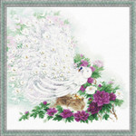 "RL100030 Riolis Cross Stitch Kit Maharaja's Garden 19.75"" x 19.75""; White Aida ; 14ct"