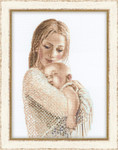 "RL100033 Riolis Cross Stitch Kit Tenderness 11.75"" x 15.75""; White Aida ; 14ct"