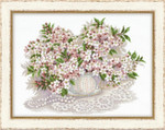 "RL100034 Riolis Cross Stitch Kit Cherry Blossom 15.75"" x 11.75""; White Aida ; 14ct"