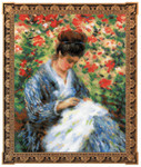 "RL100051 Riolis Cross Stitch Kit Camille Monet after C. Monet's Painting 9.5"" x 11.75""; White Aida; 14ct"
