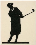 PC1188 The Posy Collection The Classic Golfer  Original artwork by Michael Schwab