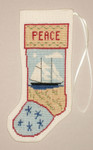 PC1417 The Posy Collection Kedron Schooner Stocking Ornament