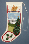 PC1529 The Posy Collection White House Stocking Ornament