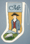 PC1735 The Posy Collection Mr. Colonial Stocking Ornament