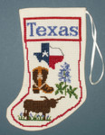 PC1832 The Posy Collection Texas Stocking Ornament