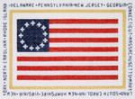 PC284 The Posy Collection Colonial Flag - First Stars and Stripes (1777 - 1795)