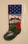 PC791 The Posy Collection Mount Vernon Stocking Ornament;