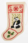 PC866 The Posy Collection Panda Stocking Ornament