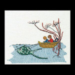 "GOK1044A Thea Gouverneur Kit Boat w/Fish 5.6"" x 6.8""; Aida; 16ct"