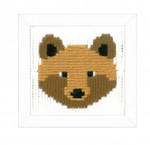 PNV163718 Vervaco Kit Bruno (Bear) Long Stitch
