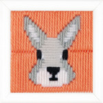 PNV163281 Vervaco Kit Yvonne (Rabbit) Long Stitch