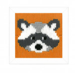PNV163279 Vervaco Kit Walter (Raccoon) Long Stitch