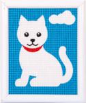 PNV9580 Vervaco White Cat